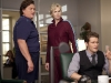 "GLEE:  Coach Beiste (guest star Dot Jones, L), Will (Matthew Morrison, R) and Sue (Jane Lynch, C) argue in Principal Figgins' office in ""Audition""  the season premiere episode of GLEE airing Tuesday, Sept. 21 (8:00-9:00 PM ET/PT) on FOX. ©2010 Fox Broadcasting Co. Cr: Adam Rose/FOX"