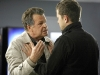 "FRINGE: Peter (Joshua Jackson, R) tries to calm Walter (John Noble, L) after a terrible accident in the FRINGE Season Two premiere episode ""A New Day in the Old Town"" airing Thursday, September 17 (9:00-10:00 PM ET/PT) on FOX.  ©2009 Fox Broadcasting Co. CR: Liane Hentscher/FOX"