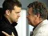 "FRINGE: Peter (Joshua Jackson, L) and Walter (John Noble, R) react to a terrible accident in the FRINGE Season Two premiere episode ""A New Day in the Old Town"" airing Thursday, September 17 (9:00-10:00 PM ET/PT) on FOX.  ©2009 Fox Broadcasting Co. CR: Liane Hentscher/FOX"
