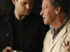 "FRINGE: Walter (John Noble, R) and Peter (Joshua Jackson, L) discuss research footage in the FRINGE Season Two premiere episode ""A New Day in the Old Town"" airing Thursday, September 17 (9:00-10:00 PM ET/PT) on FOX.  ©2009 Fox Broadcasting Co. CR: Liane Hentscher/FOX"