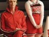 GLEE: Sue (Jane Lynch, L) and Becky (Lauren Potter, R) watch cheer practice in a special episode of GLEE airing after SUPER BOWL XLV on Sunday, Feb. 6 (approx. 10:30-11:30 PM ET; approx. 7:30-8:30 PM PT) on FOX.  ©2011 Fox Broadcasting Co. Cr: Michael Yarish/FOX