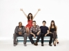 "NEW GIRL (working title):  A new single-camera ensemble comedy starring Zooey Deschanel (""(500) Days of Summer"") as Jess, an offbeat girl who – after a bad breakup – moves in with three single guys and essentially sets a bomb off in their lives will premiere this fall on FOX.   (Pictured L-R:  Damon Wayans Jr., Zooey Deschanel, Jake Johnson, Max Greenfield and Hannah Simone) ©2011 Fox Broadcasting Co.  Cr:  Patrick Ecclesine/FOX"